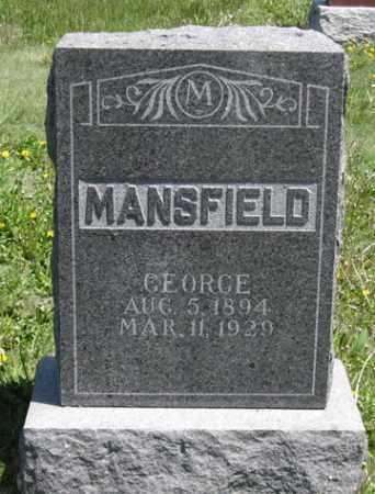 MANSFIELD, GEORGE - Hitchcock County, Nebraska   GEORGE MANSFIELD - Nebraska Gravestone Photos