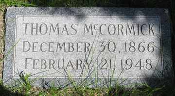 MCCORMICK, THOMAS - Hitchcock County, Nebraska | THOMAS MCCORMICK - Nebraska Gravestone Photos