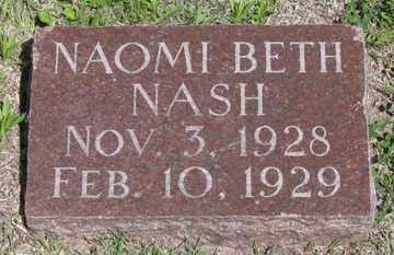 NASH, NAOMI BETH - Hitchcock County, Nebraska | NAOMI BETH NASH - Nebraska Gravestone Photos