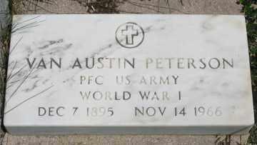 PETERSON, VAN AUSTIN - Hitchcock County, Nebraska | VAN AUSTIN PETERSON - Nebraska Gravestone Photos