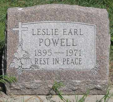 POWELL, LESLIE EARL - Hitchcock County, Nebraska | LESLIE EARL POWELL - Nebraska Gravestone Photos