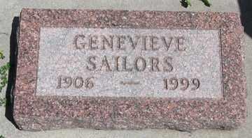 SAILORS, GENEVIEVE - Hitchcock County, Nebraska   GENEVIEVE SAILORS - Nebraska Gravestone Photos