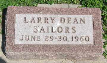 SAILORS, LARRY DEAN - Hitchcock County, Nebraska | LARRY DEAN SAILORS - Nebraska Gravestone Photos