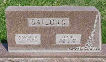 SAILORS, CLAUDE - Hitchcock County, Nebraska | CLAUDE SAILORS - Nebraska Gravestone Photos