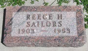 SAILORS, REECE H. - Hitchcock County, Nebraska | REECE H. SAILORS - Nebraska Gravestone Photos