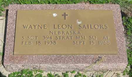SAILORS, WAYNE LEON - Hitchcock County, Nebraska | WAYNE LEON SAILORS - Nebraska Gravestone Photos