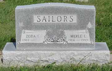 SAILORS, MERLE L. - Hitchcock County, Nebraska | MERLE L. SAILORS - Nebraska Gravestone Photos