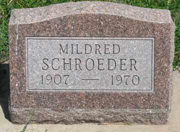 SCHROEDER, MILDRED - Hitchcock County, Nebraska | MILDRED SCHROEDER - Nebraska Gravestone Photos