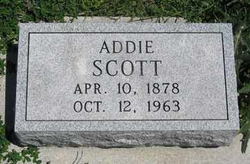 SCOTT, ADDIE - Hitchcock County, Nebraska   ADDIE SCOTT - Nebraska Gravestone Photos