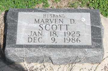 SCOTT, MARVEN D. - Hitchcock County, Nebraska | MARVEN D. SCOTT - Nebraska Gravestone Photos