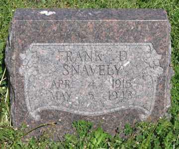 SNAVELY, FRANK D. - Hitchcock County, Nebraska | FRANK D. SNAVELY - Nebraska Gravestone Photos