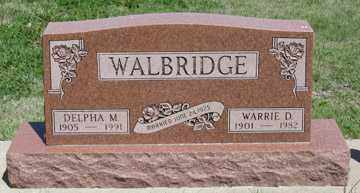 WALBRIDGE, DELPHA M. - Hitchcock County, Nebraska   DELPHA M. WALBRIDGE - Nebraska Gravestone Photos