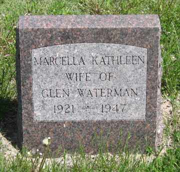 WATERMAN, MARCELLA KATHLEEN - Hitchcock County, Nebraska   MARCELLA KATHLEEN WATERMAN - Nebraska Gravestone Photos