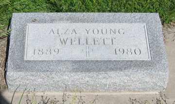 YOUNG WELLETT, ALZA - Hitchcock County, Nebraska | ALZA YOUNG WELLETT - Nebraska Gravestone Photos