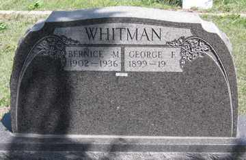 WHITMAN, BERNICE M. - Hitchcock County, Nebraska | BERNICE M. WHITMAN - Nebraska Gravestone Photos