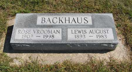 BACKHAUS, LEWIS AUGUST - Holt County, Nebraska | LEWIS AUGUST BACKHAUS - Nebraska Gravestone Photos