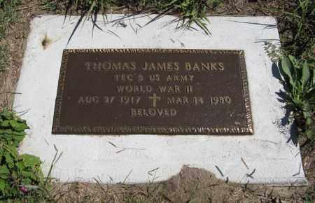 BANKS, THOMAS JAMES - Holt County, Nebraska | THOMAS JAMES BANKS - Nebraska Gravestone Photos