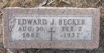 BECKER, EDWARD J - Holt County, Nebraska | EDWARD J BECKER - Nebraska Gravestone Photos