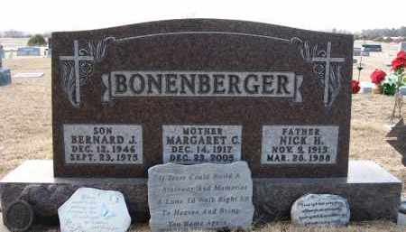 BONENBERGER, BERNARD J - Holt County, Nebraska | BERNARD J BONENBERGER - Nebraska Gravestone Photos