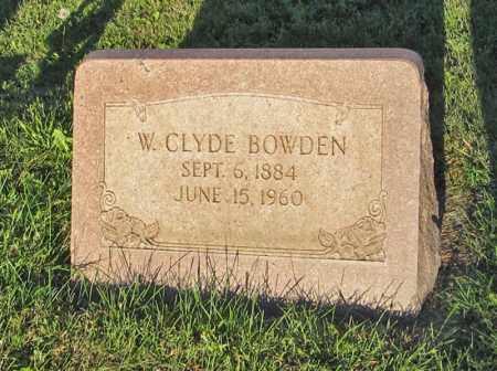 BOWDEN, W. CLYDE - Holt County, Nebraska | W. CLYDE BOWDEN - Nebraska Gravestone Photos