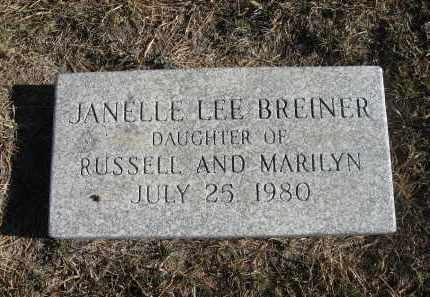 BREINER, JANELLE LEE - Holt County, Nebraska   JANELLE LEE BREINER - Nebraska Gravestone Photos