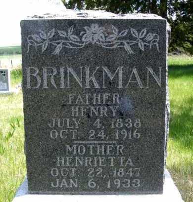 BRINKMAN, HENRY - Holt County, Nebraska | HENRY BRINKMAN - Nebraska Gravestone Photos