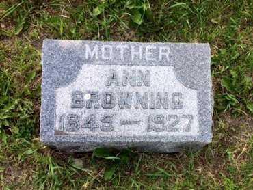 GUNTER BROWNING, ANN - Holt County, Nebraska   ANN GUNTER BROWNING - Nebraska Gravestone Photos