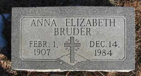 BRUDER, ANNA ELIZABETH - Holt County, Nebraska   ANNA ELIZABETH BRUDER - Nebraska Gravestone Photos