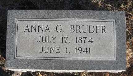 BRUDER, ANNA G - Holt County, Nebraska   ANNA G BRUDER - Nebraska Gravestone Photos