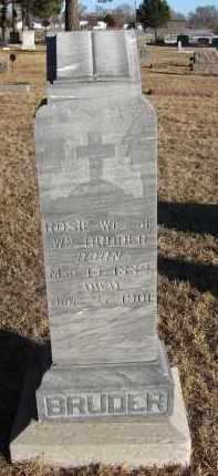BRUDER, ROSIE - Holt County, Nebraska | ROSIE BRUDER - Nebraska Gravestone Photos