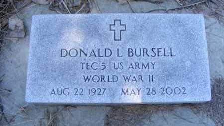 BURSELL, DONALD L. - Holt County, Nebraska | DONALD L. BURSELL - Nebraska Gravestone Photos