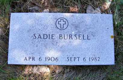 BURSELL, SADIE - Holt County, Nebraska | SADIE BURSELL - Nebraska Gravestone Photos