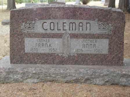 COLEMAN, FRANK - Holt County, Nebraska   FRANK COLEMAN - Nebraska Gravestone Photos