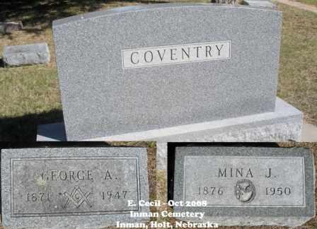 COVENTRY, MINA J. - Holt County, Nebraska | MINA J. COVENTRY - Nebraska Gravestone Photos