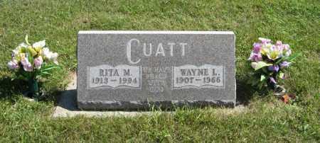 CUATT, WAYNE L. - Holt County, Nebraska   WAYNE L. CUATT - Nebraska Gravestone Photos