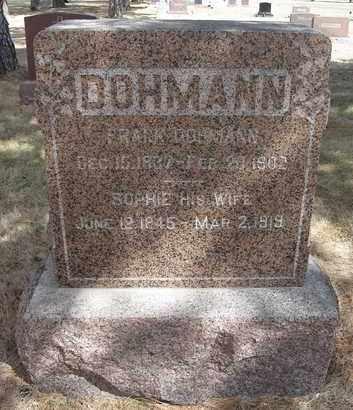 DOHMANN, SOPHIE - Holt County, Nebraska | SOPHIE DOHMANN - Nebraska Gravestone Photos