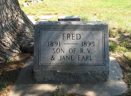 EARL, FRED - Holt County, Nebraska | FRED EARL - Nebraska Gravestone Photos