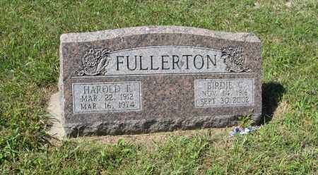 FULLERTON, HAROLD F. - Holt County, Nebraska | HAROLD F. FULLERTON - Nebraska Gravestone Photos