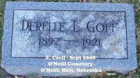 GOFF, DERELLE L. - Holt County, Nebraska | DERELLE L. GOFF - Nebraska Gravestone Photos
