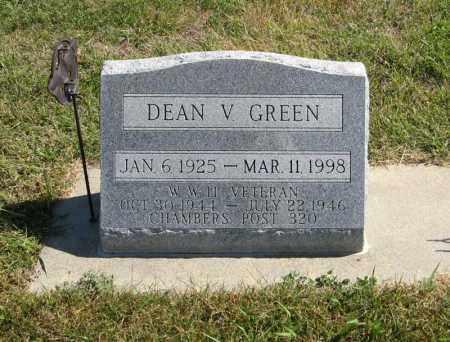 GREEN, DEAN V. - Holt County, Nebraska | DEAN V. GREEN - Nebraska Gravestone Photos