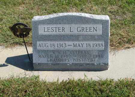 GREEN, LESTER L. - Holt County, Nebraska | LESTER L. GREEN - Nebraska Gravestone Photos