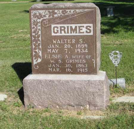 GRIMES, WALTER S. - Holt County, Nebraska   WALTER S. GRIMES - Nebraska Gravestone Photos
