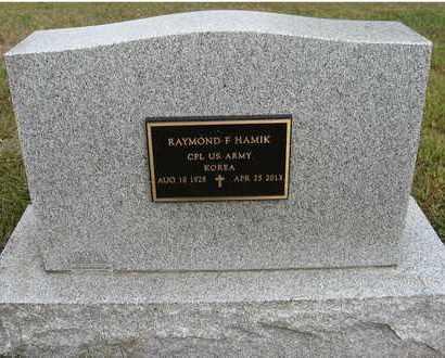 HAMIK, RAYMOND F. (MILITARY) - Holt County, Nebraska | RAYMOND F. (MILITARY) HAMIK - Nebraska Gravestone Photos
