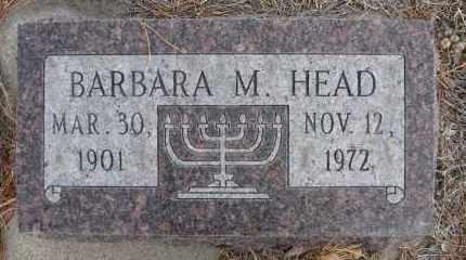 HEAD, BARBARA M - Holt County, Nebraska | BARBARA M HEAD - Nebraska Gravestone Photos