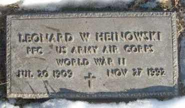 HEINOWSKI, LEONARD W - Holt County, Nebraska   LEONARD W HEINOWSKI - Nebraska Gravestone Photos