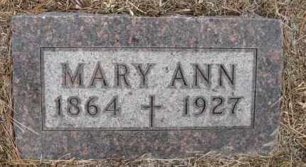 HORTON, MARY ANN - Holt County, Nebraska | MARY ANN HORTON - Nebraska Gravestone Photos