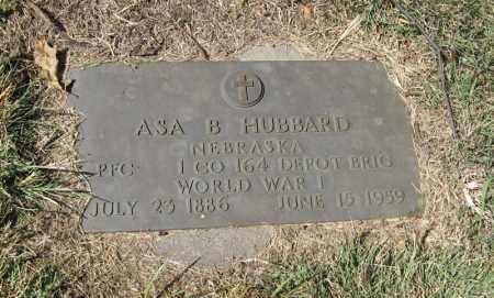 HUBBARD, ASA B. (MILITARY MARKER) - Holt County, Nebraska   ASA B. (MILITARY MARKER) HUBBARD - Nebraska Gravestone Photos