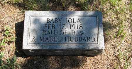 HUBBARD, IOLA - Holt County, Nebraska | IOLA HUBBARD - Nebraska Gravestone Photos