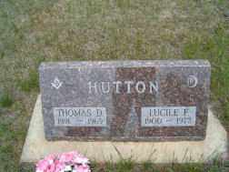 HUTTON, THOMAS - Holt County, Nebraska | THOMAS HUTTON - Nebraska Gravestone Photos