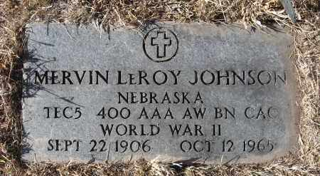 JOHNSON, MERVIN LEROY - Holt County, Nebraska | MERVIN LEROY JOHNSON - Nebraska Gravestone Photos
